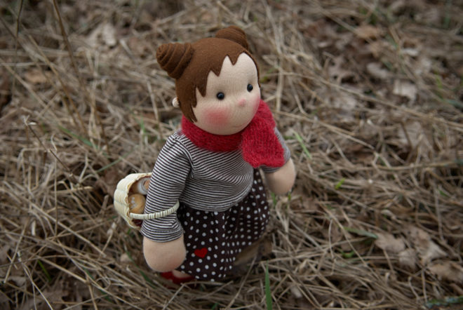 Kiki, a cloth doll by Atelier Björkåsa