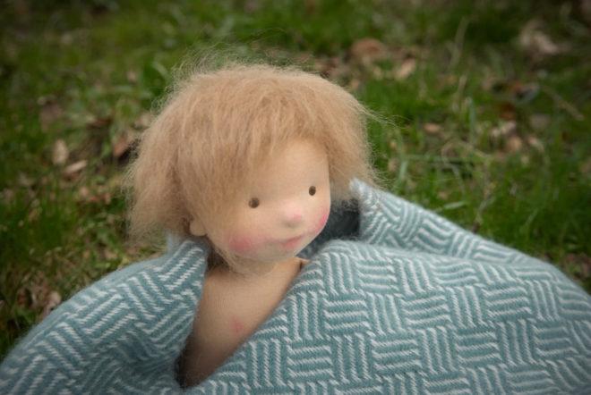 Asta, a natural fiber art doll by Atelier Björkåsa