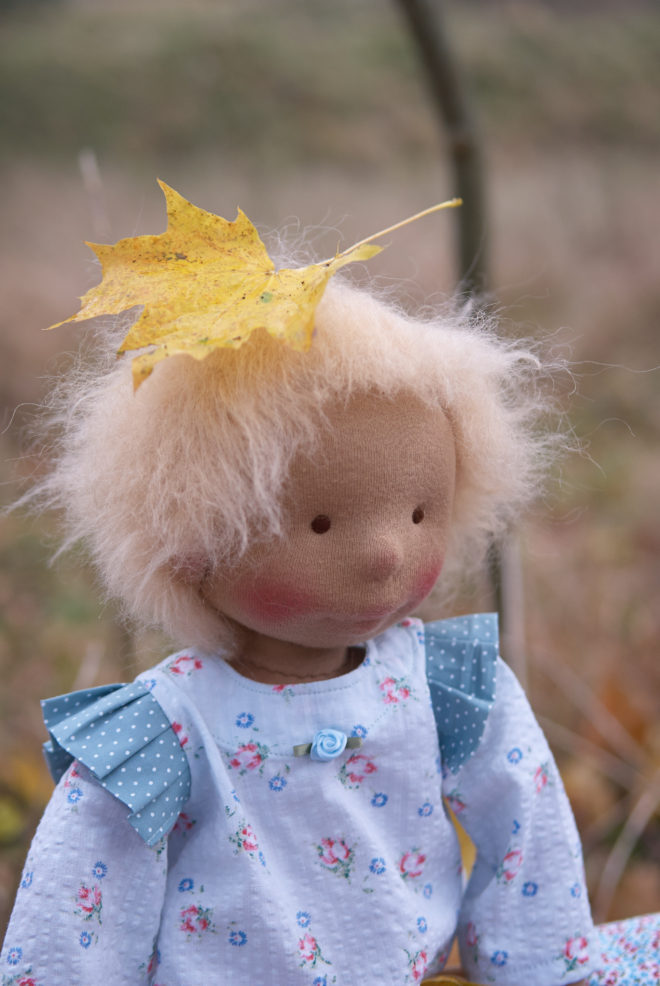 Chouko - a cloth doll made by Atelier Björkåsa